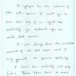Alumni Scholarship Letter - 2014