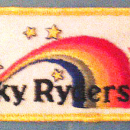 Sky Ryders Rainbow Patch from the 1980s