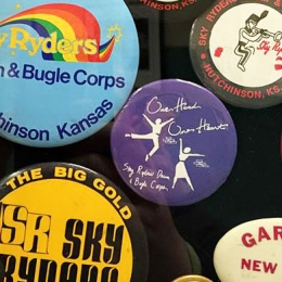 Sky Ryders Buttons at DCI HQ in Indianapolis